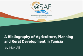 A Bibliography of Agriculture, Planning, and Rural Development in Tunisia