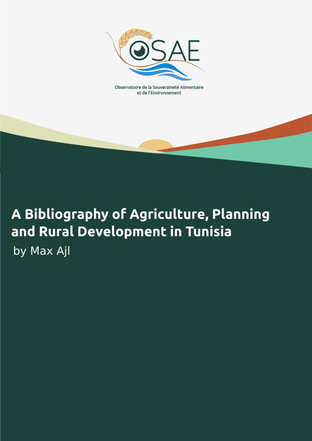 A Bibliography of Agriculture, Planning, and Rural Development in Tunisia 1