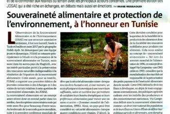 Souveraineté alimentaire et protection de l'environnement, à l'honneur en Tunisie